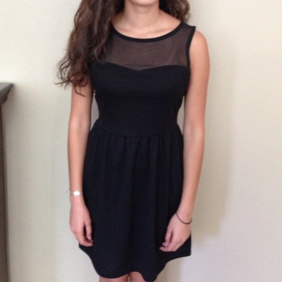 Forever 21 Dresses Adorable Black Dress With Sheer Top Poshmark