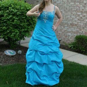 75% off jump apparel Dresses & Skirts - Blue short sparkly dress ...