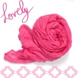 Accessories - NEW Lightweight Sheer Crinkle Scarf in Pink