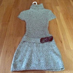 Mock turtle neck sweater dress!