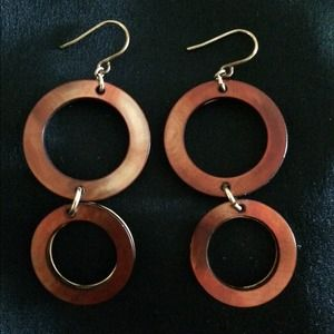 NWT Kenneth Cole iridescent copper earrings