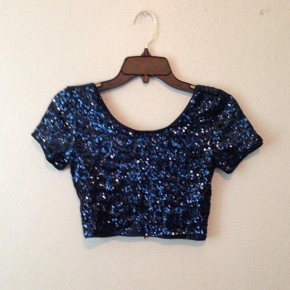 Blue Sparkly Shirt