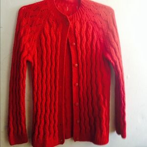 Jackets & Blazers - Knitted red sweater