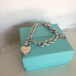 Tiffany and Co sterling silver charm bracelet