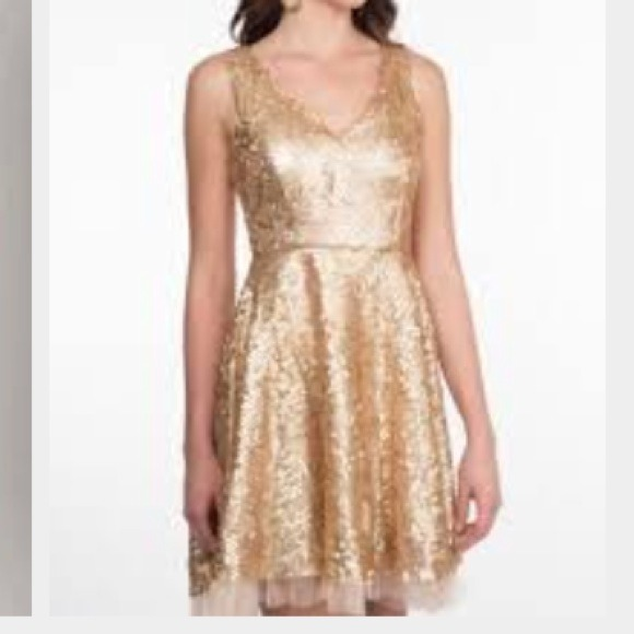 f095185f minuet Dresses | Nwt Gold Sequin And Tulle Dress | Poshmark