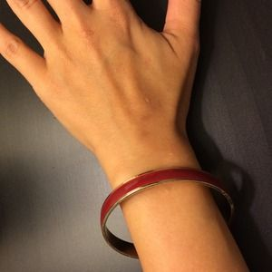 Old Navy Jewelry - cranberry red and goldtone bangle new