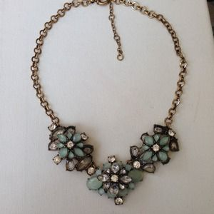 Mint crystals statement necklace