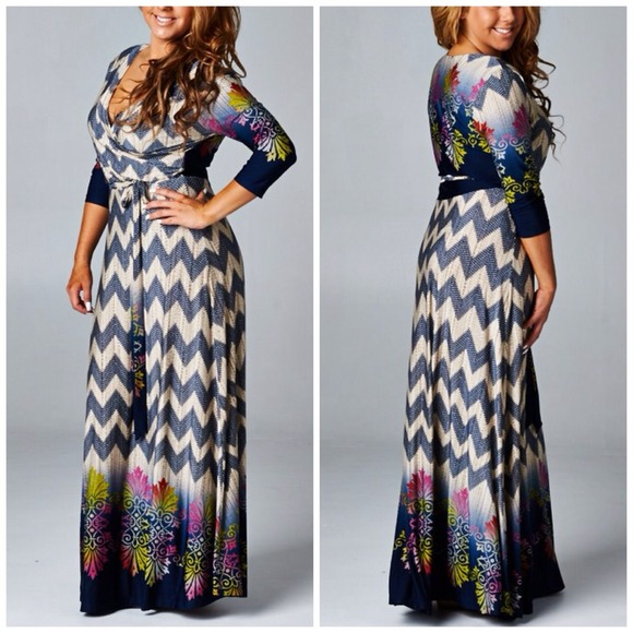 boutique Dresses | Last One Plus Size Chevron Maxi | Poshmark