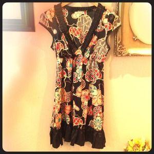 Forever21 small Japanese silky umpire short dress