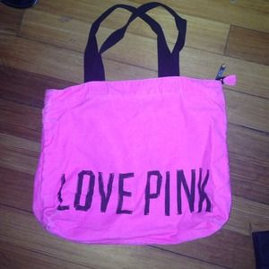 pink  tote bag from pink