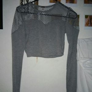 Long sleeved crop top