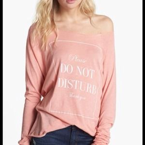 Wildfox Do Not Disturb long sleeve raglan