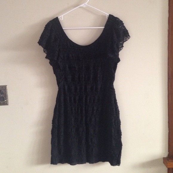 Dresses - H&M Black Lace Dress