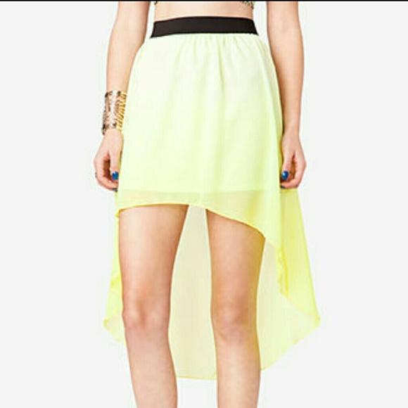 40 forever 21 dresses skirts neon green