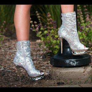 Shoes - Sequin Sliver Bootie