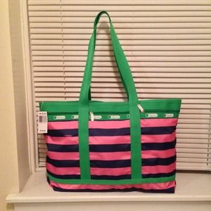 LeSportsac Handbags - LeSportsac travel tote in pink rugby