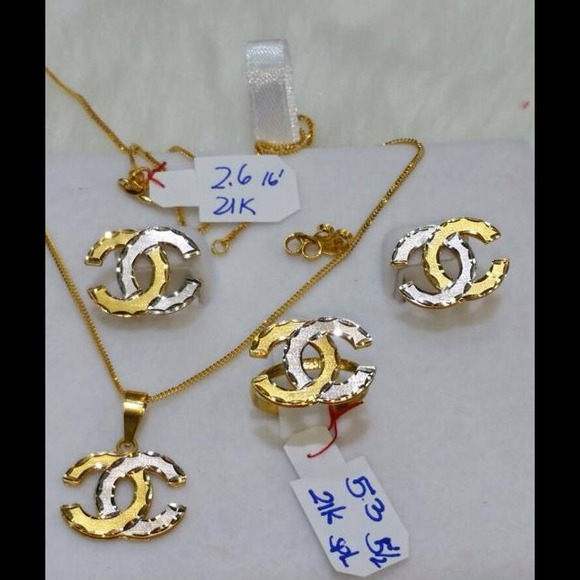 Jewelry 21k Solid Saudi Gold Set Poshmark