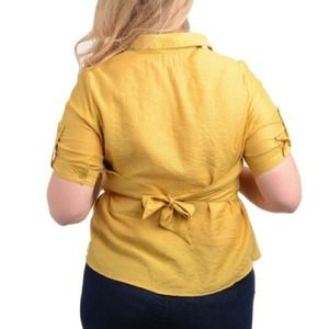 6af51ef113a Tops - New Plus Size Rayon Mustard Yellow Top Size 3X