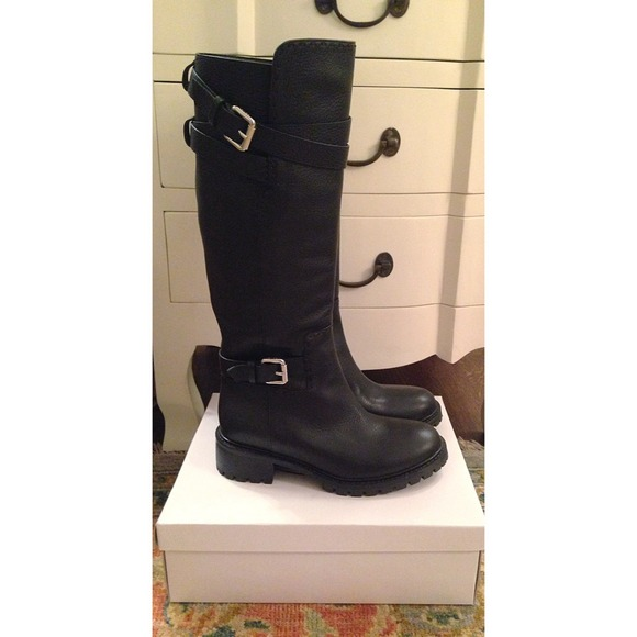 52% off FENDI Shoes - Fendi Leather knee high biker boots from ...