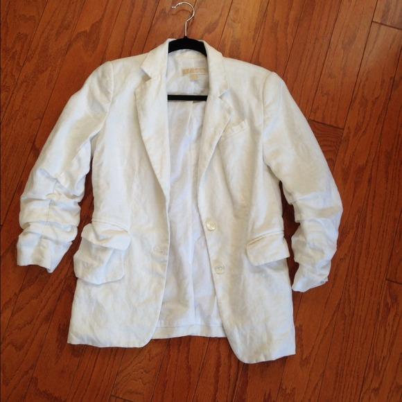 90% off Michael Kors Jackets & Blazers - Michael Kors white Linen ...