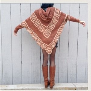Sweaters - Sandy Hooded Poncho Sold Out