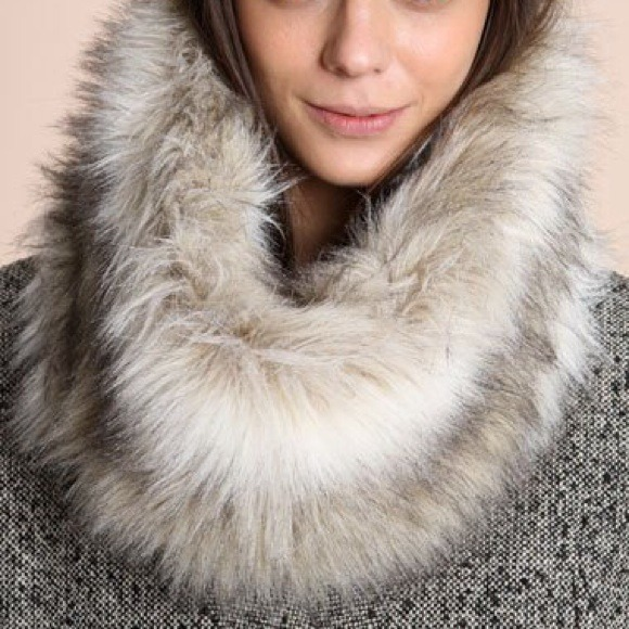 h m host faux fur infinity scarf snood from