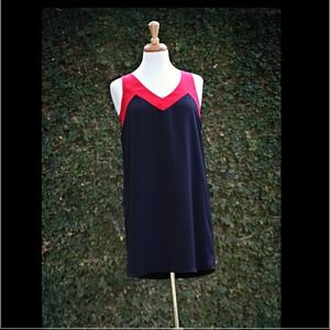 Black & Red shift dress