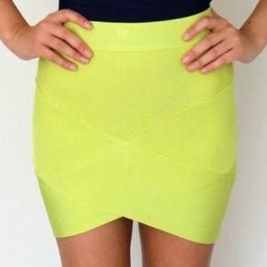 FINAL SALE Celebrity Style Bandage Mini Skirt Sz S