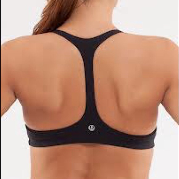52% off lululemon athletica Tops - Black Arise T-back sports Bra ...
