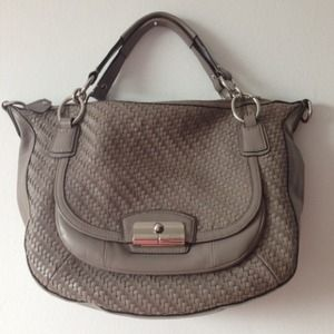 Coach Handbags - Coach Leather Kristen Woven Round satchel