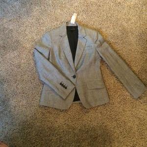 Talbots size 4 black and white plaid blazer
