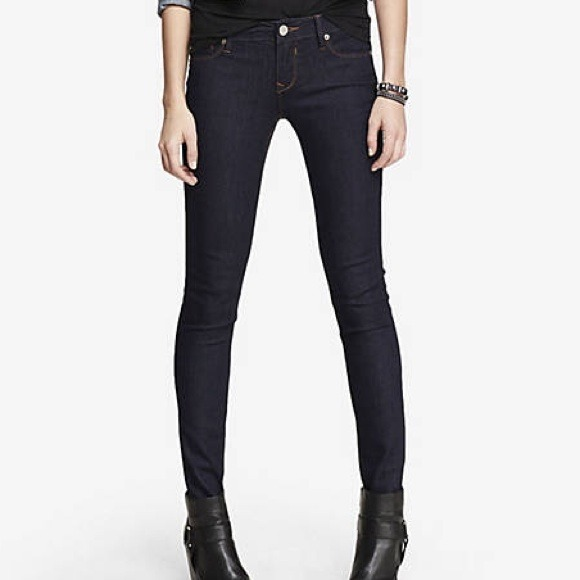 63% off Express Pants - Express Stella Low Rise Jean Legging Dark ...
