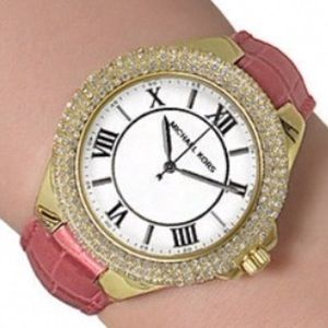 Michael Kors Camille Pink Leather Watch