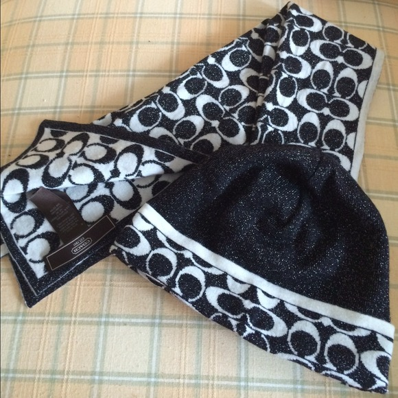 60 coach accessories authentic coach hat and scarf