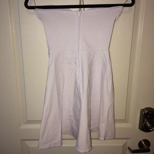 Nasty Gal Dresses - Nastygal white strapless deep v skater dress S 6b6fc2a92