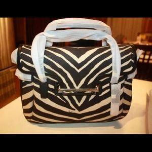 COACH Taylor Zebra Flap Satchel NWT