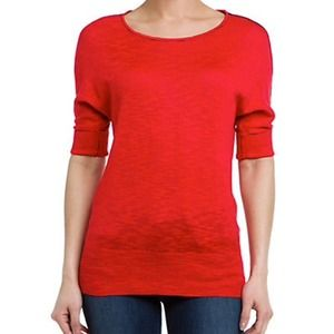 Michael Stars Tomato Boatneck Top