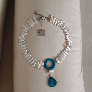 Genuine stones and sterling silver necklace NWT