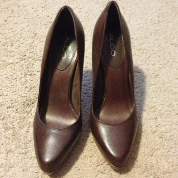 76ed492a2af ALDO Shoes - ALDO brown heels- like New!