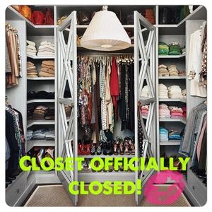 CLOSET OFFICIALLY CLOSED!