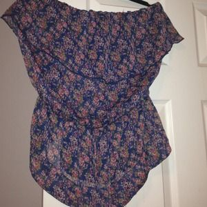 Express floral tube top