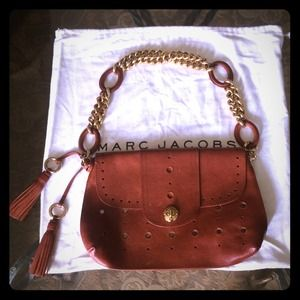 Authentic Marc Jacobs Brown Leather Flap Bag