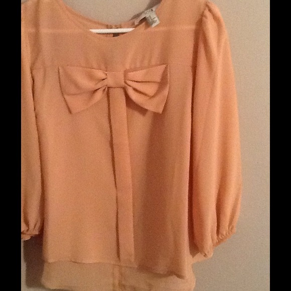 Forever 21 Tops Blouse With Bow Poshmark