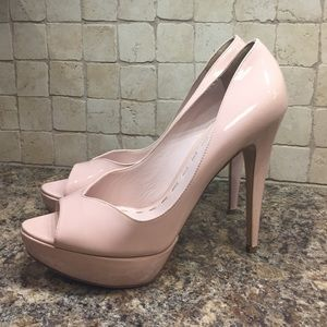  Sale!  Miu miu 125mm blush nude pump