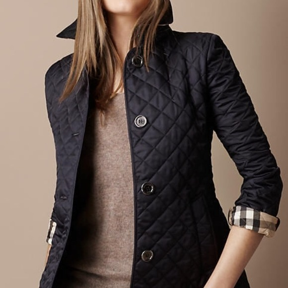 Womens burberry brit quilted jacket