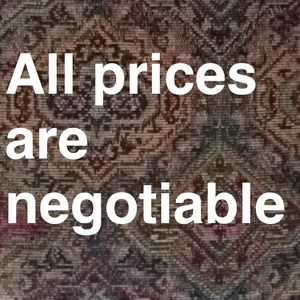 REMEMBER ALL PRICES ARE NEGOTIABLE