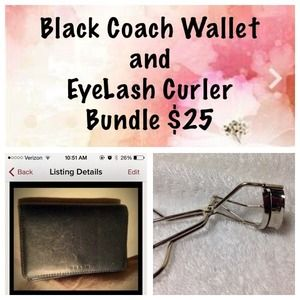 Accessories - Coach wallet and eyelash curler