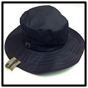 Black Fedora Sun Hat Wide Brim Floppy Hat