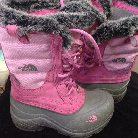 88% off The North Face Other - The North Face boots pink girls ...