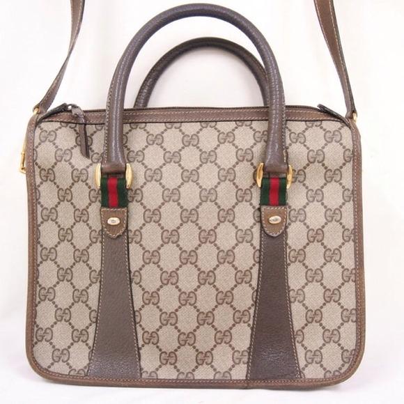 e13539e2f91 Gucci Handbags - Authentic Vintage 1980 Gucci Tote Shoulder Handbag
